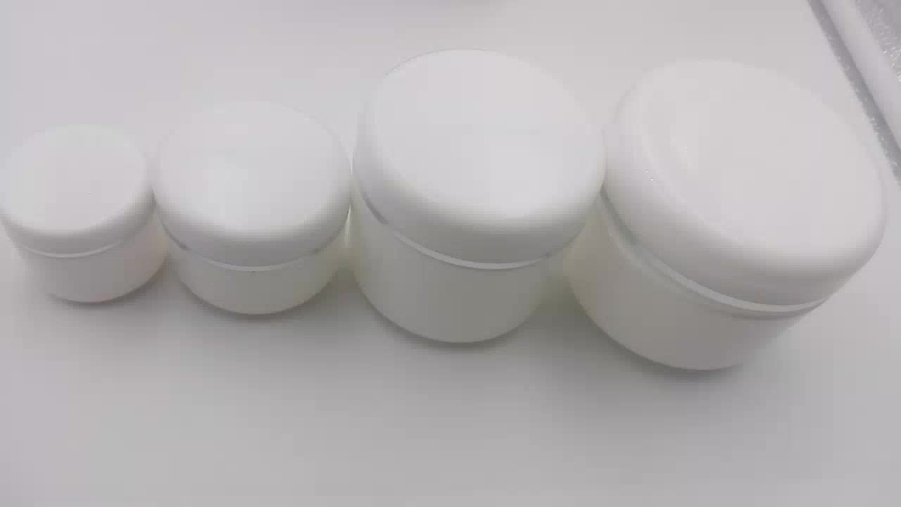 Wholesale empty round PP white cosmetic plastic hair cream jar with lid