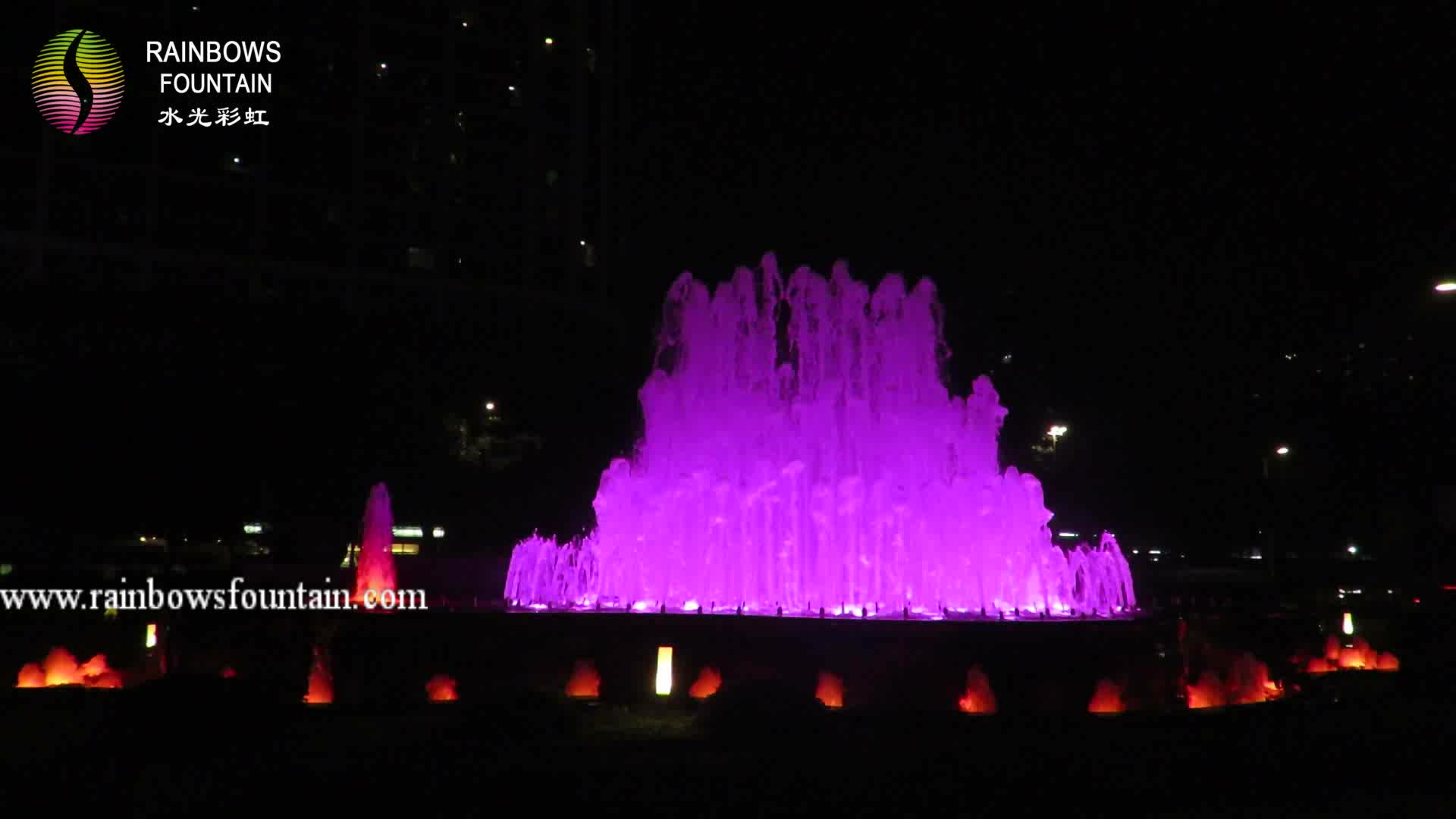 Outdoor Decorative Program Control Led Water Fountain for Hotel
