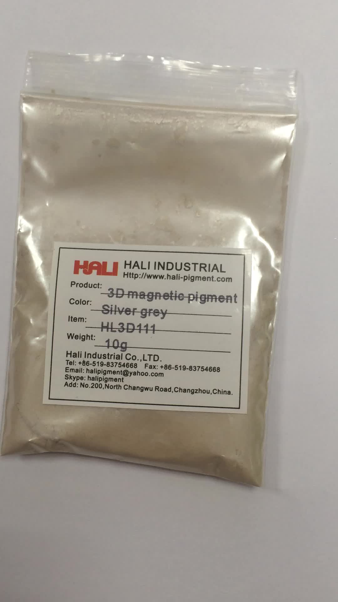 3D magnetic pigment,three-dimensional powder,stereoscopic,item:HL3D111,color:silver grey