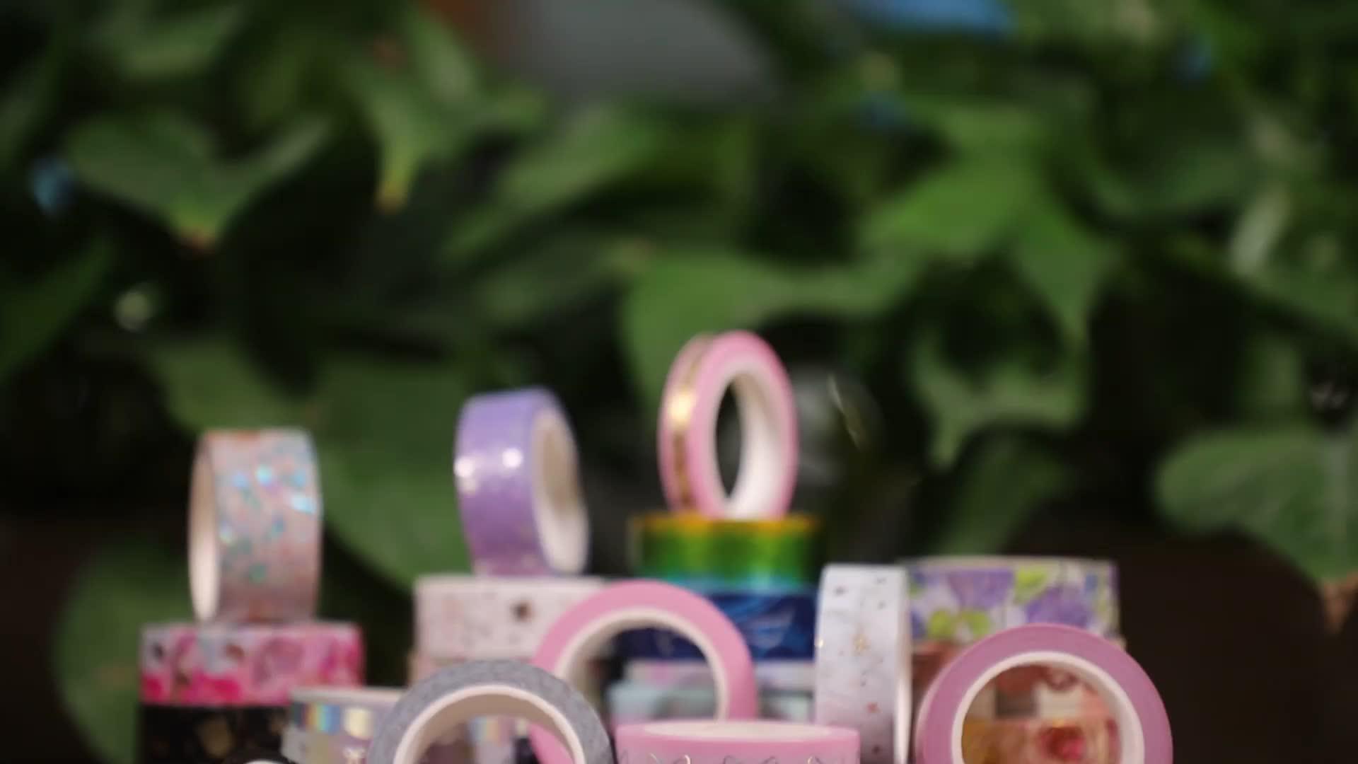 Kustom Membuat Jepang Kertas Warna-warni Perekat Kemasan Kustom Dicetak Foil Overlay Tape