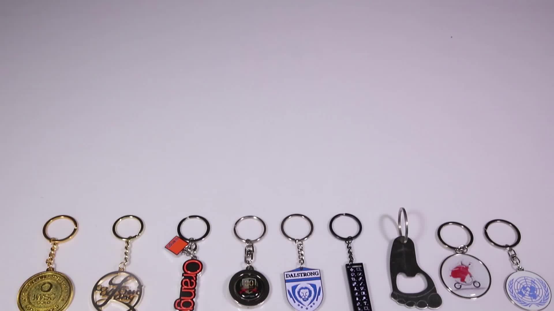 Promoção de metal personalizado barato foto impressa keychain por atacado