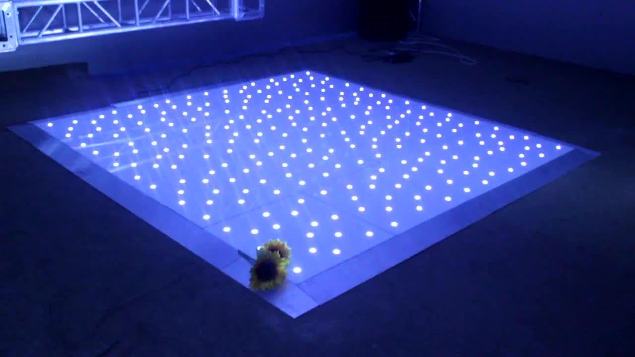 CE certificated wedding party event decoration 20 Feet 100 Dancers White Twinking LED Dance Floor