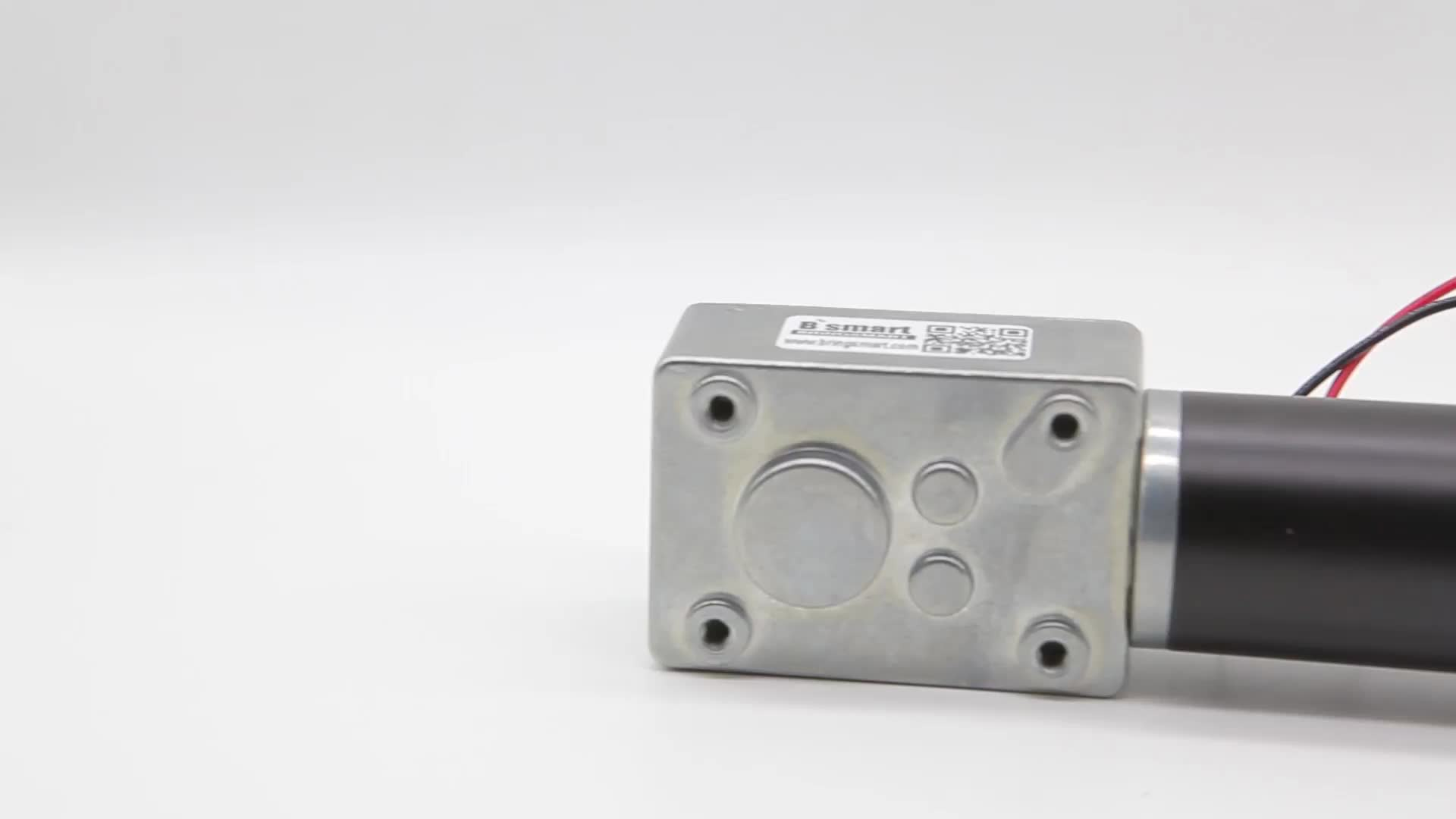 BringSmart 1.6-70kg.cm high torque 12v 24v mini low rpm brush dc electric worm gear motor for robot price dc worm geared motor