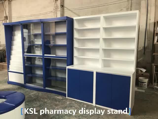 Hot sale optical shop interior design for wooden sunglasses display cabinet