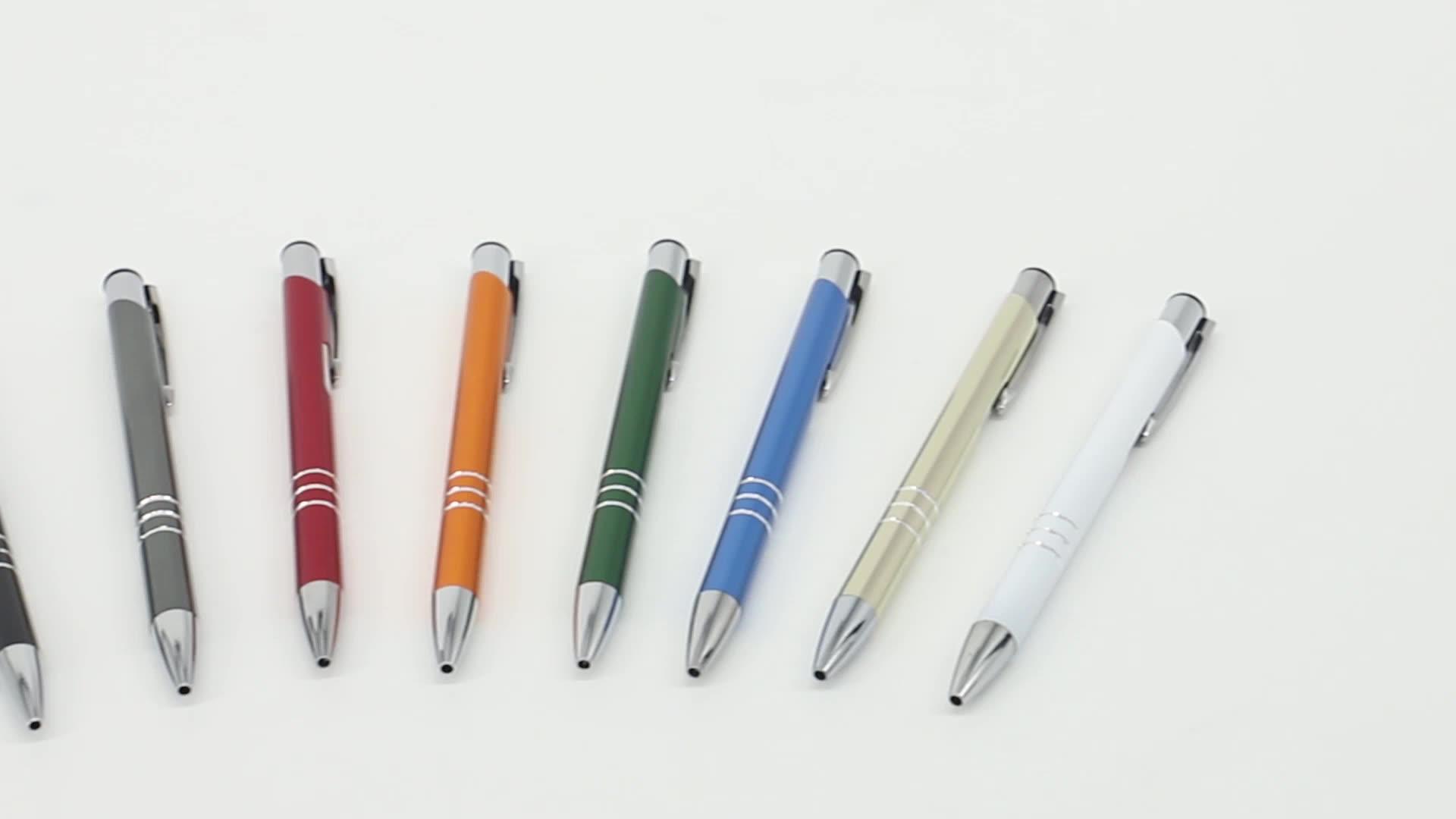 China professional manufacture colorful metal pen,custom logo pen
