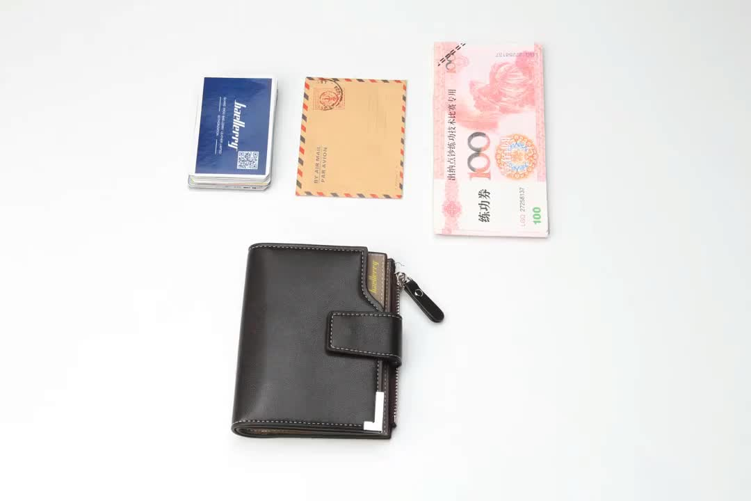 Wholesale Amazon Best Selling PU Leather Coin Purse Card Holder Wallet billfold Short Men's Wallet