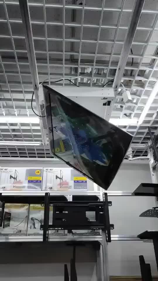 """Gemotoriseerde volledig geautomatiseerde flip down plafond TV lift 32 """"-65"""" conferentieruimte plafond screen gemonteerd"""