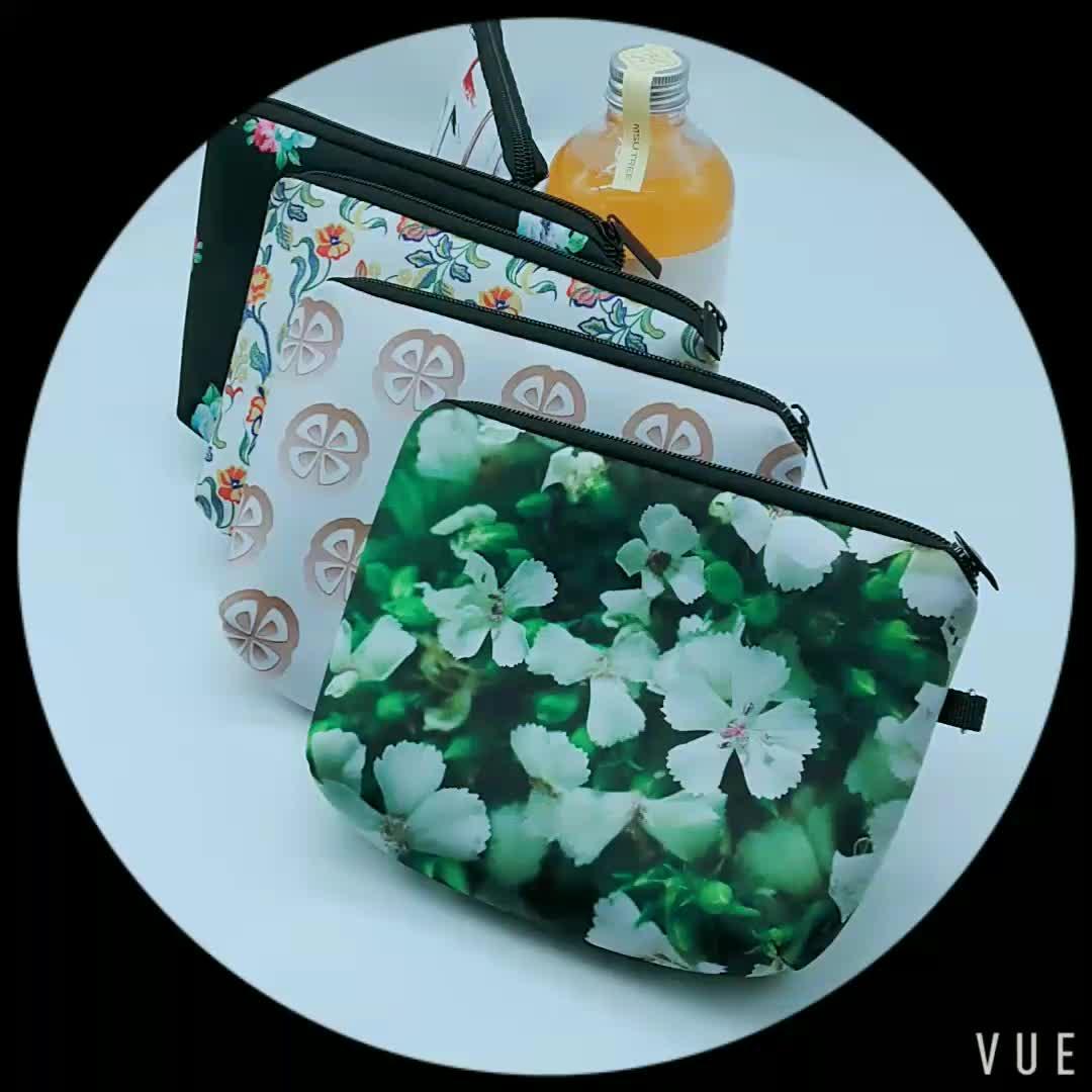 Fashion Drawstring Cosmetic Bag Neoprene Makeup Bag for Woman