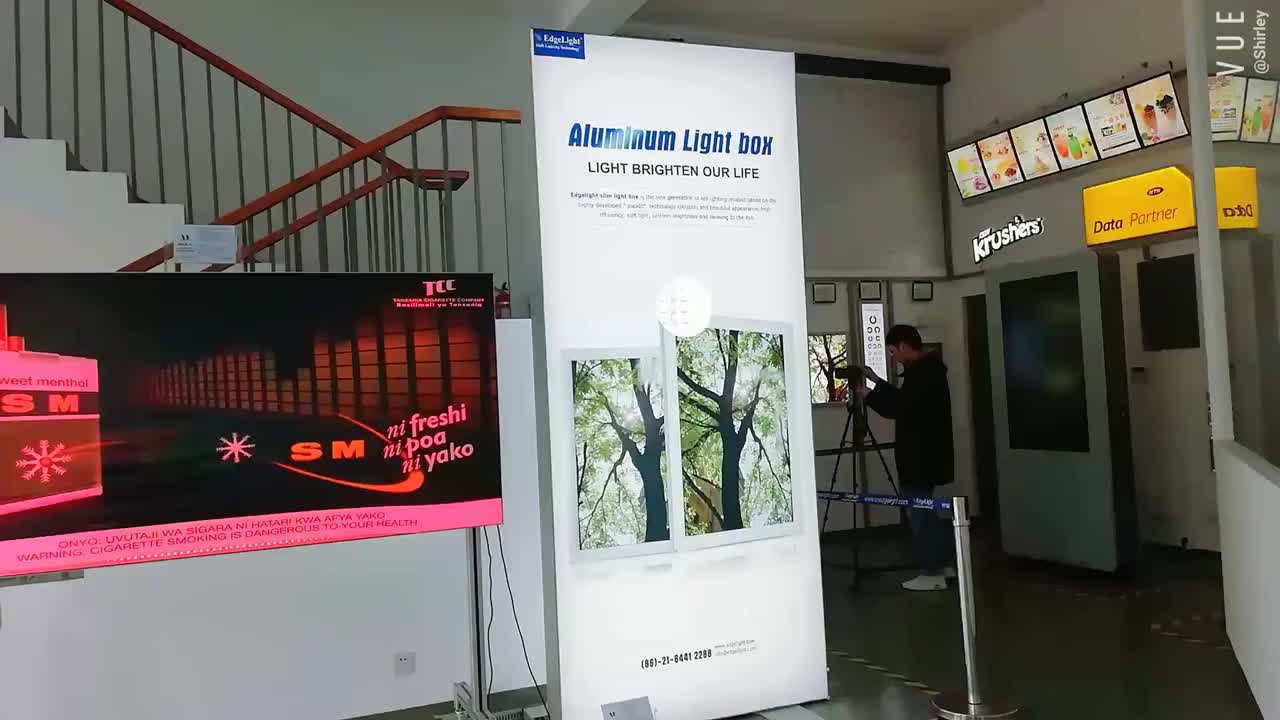 AF55 120mm thickness fabric led double side light box with CE certificate