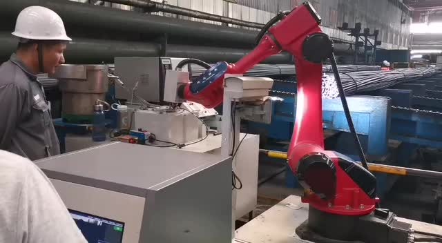 Intelligent Nameplate Welding Hanging System Automatic Nameplate Installing Machine