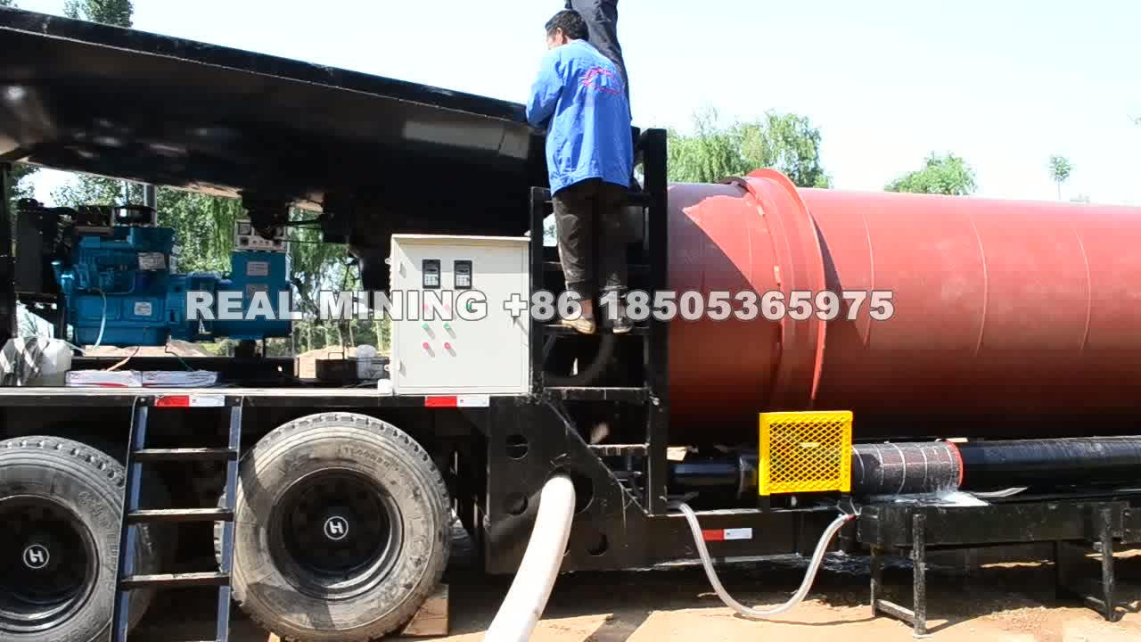 Trommel mobile gold mining scrubber machinery