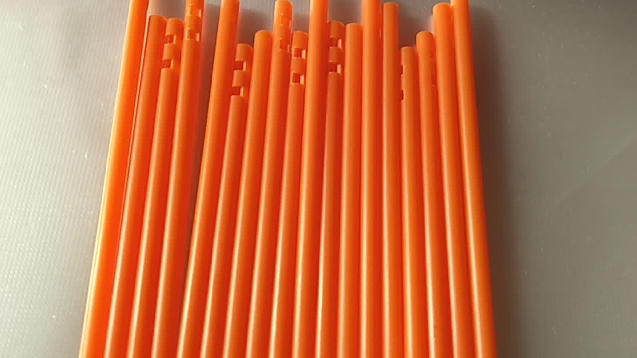 צבעוני פלסטיק lollipop מקלות 85*3.8mm