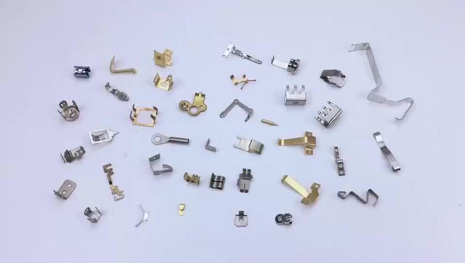 OEM मुद्रांकन धातु हार्डवेयर घटकों की सूची के पीतल टर्मिनल संपर्क सामान