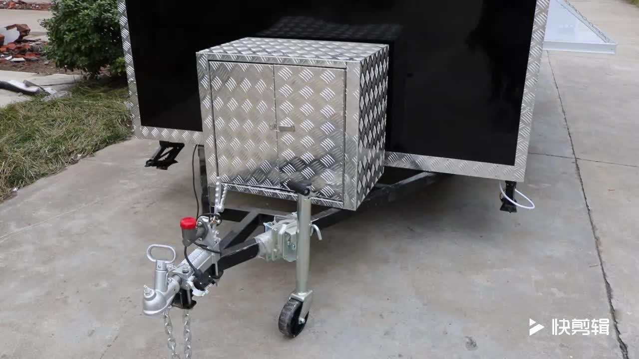Nouveau modèle peut être personnalisé logo panier alimentaire bbq solaire camion de nourriture mobile chariot de hot-dog remorque alimentaire