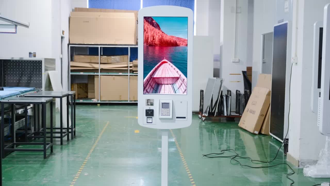 32 inch wall mounted advertising display digital signage all in one pc touch screen monitor