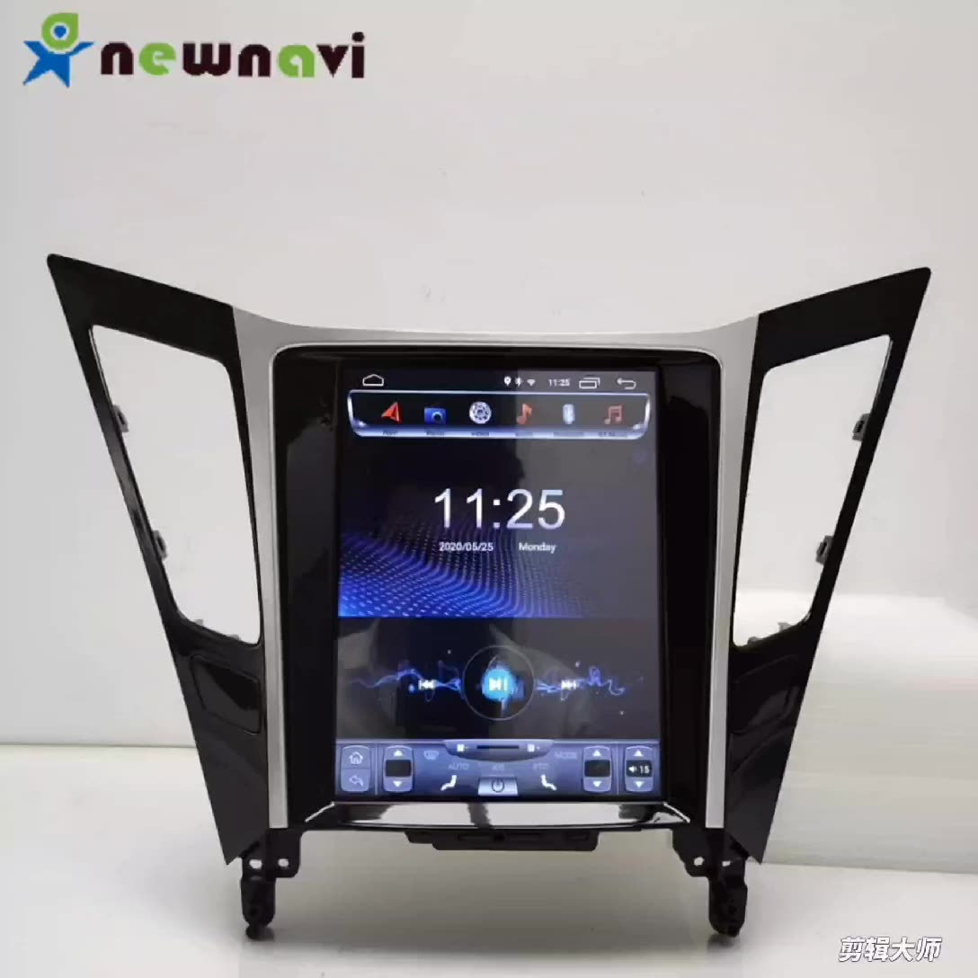 Newnavi vertical screen video player Tesla style multimedia system Android 9.0 digital touch screen car radio for Hyundai Sonata