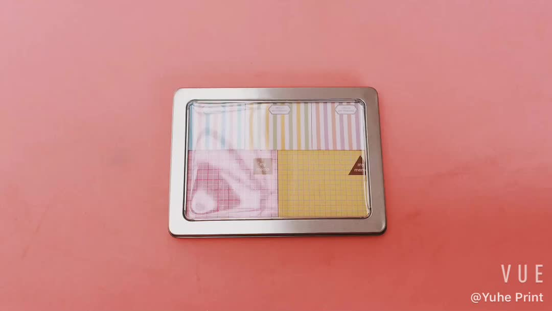 Customized size Sticky Notes Memo Pad for Kid Paperless Writing Cute Memo Pad with metal box