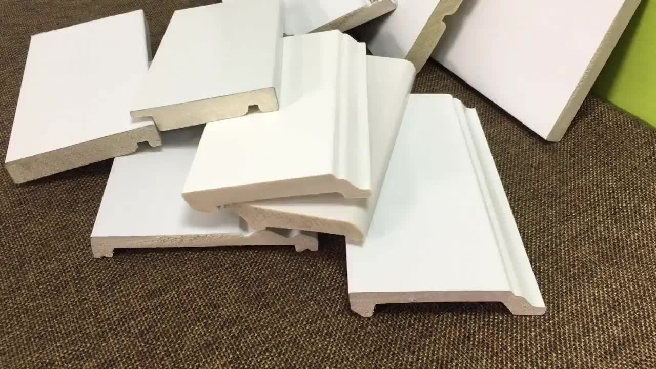 Home Decorative Moulding Architrave White Polystyrene Skirting Board