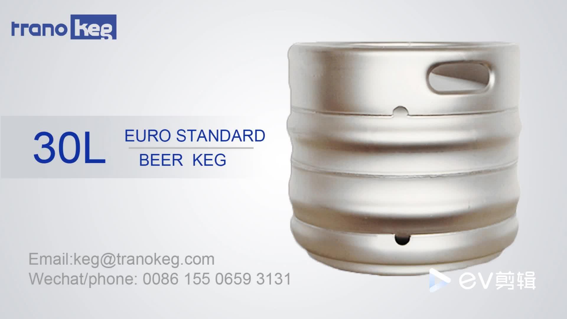 Popolare AISI 304 o 316 Food grade contenitore in acciaio inox tamburo progetto di vuoto Euro barilotto di birra 30L barile