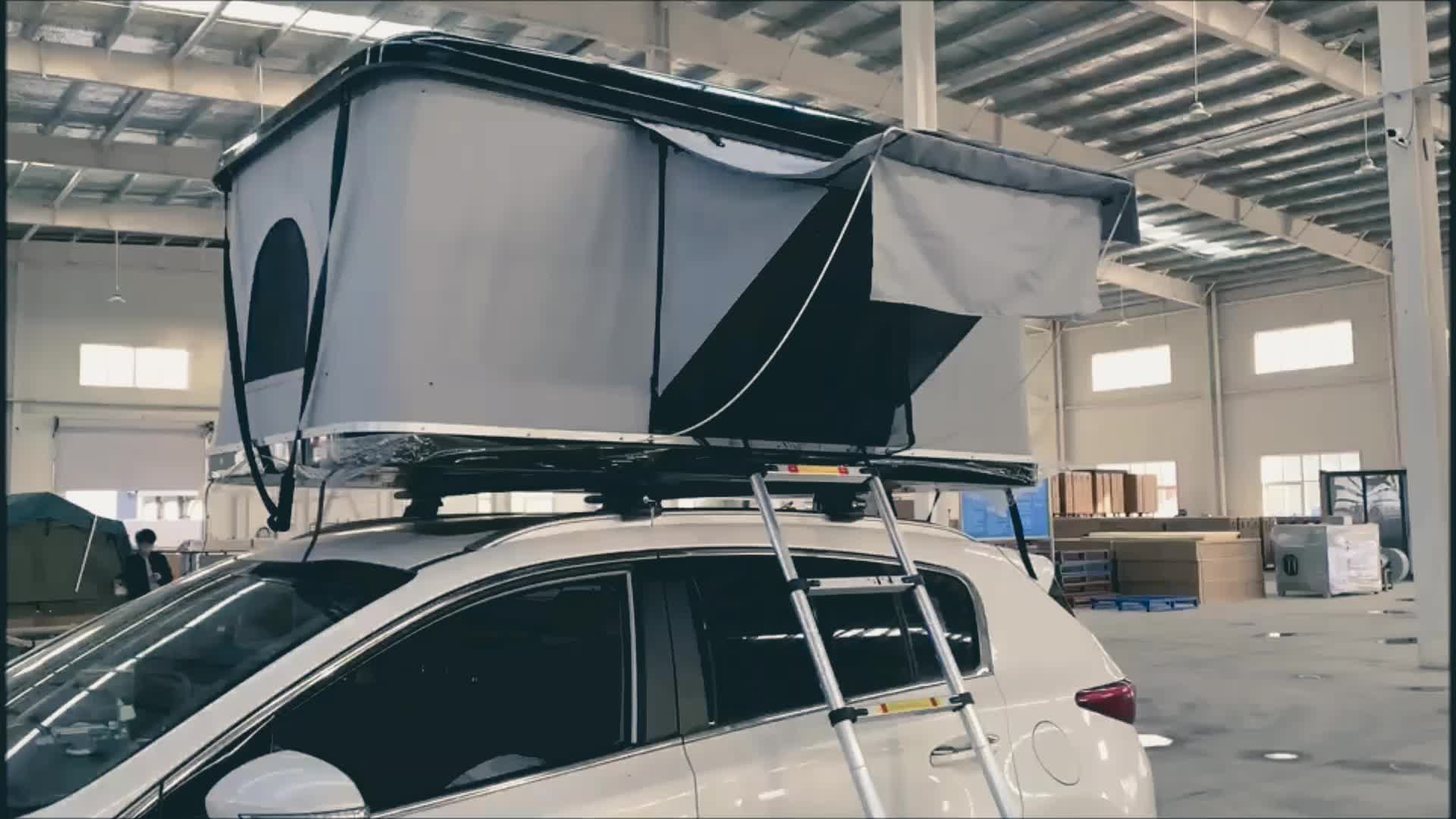 2020 New  Car Roof Rack Hard Shell Roof Top Tent (210*140cm)