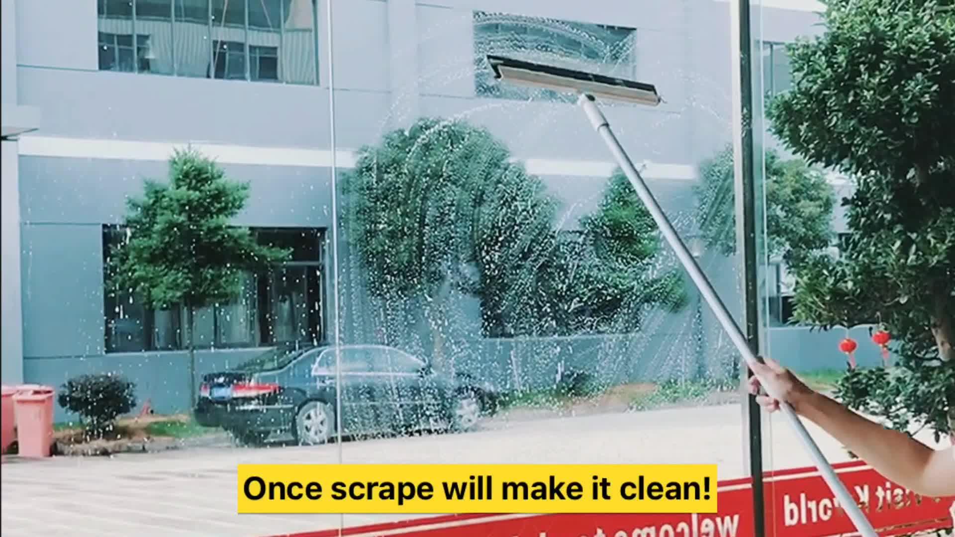 Süper temizleme yeteneği pencere temizleme araçları uzun saplı pencere çekçek