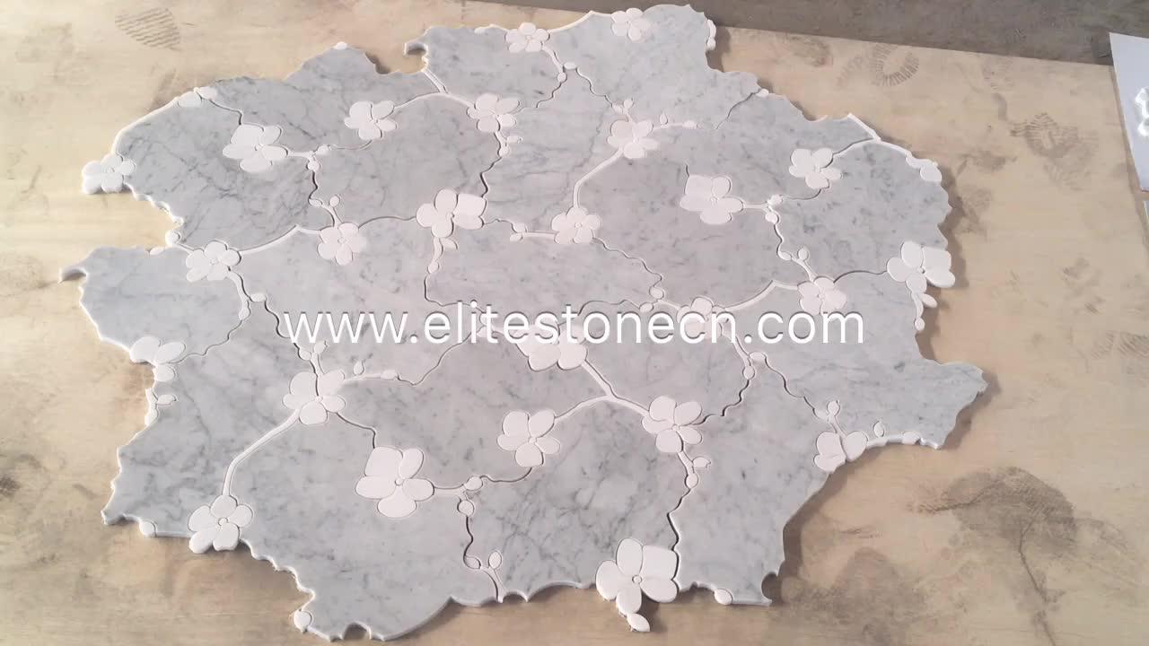 Commercio all'ingrosso cube 3d mosaico di marmo