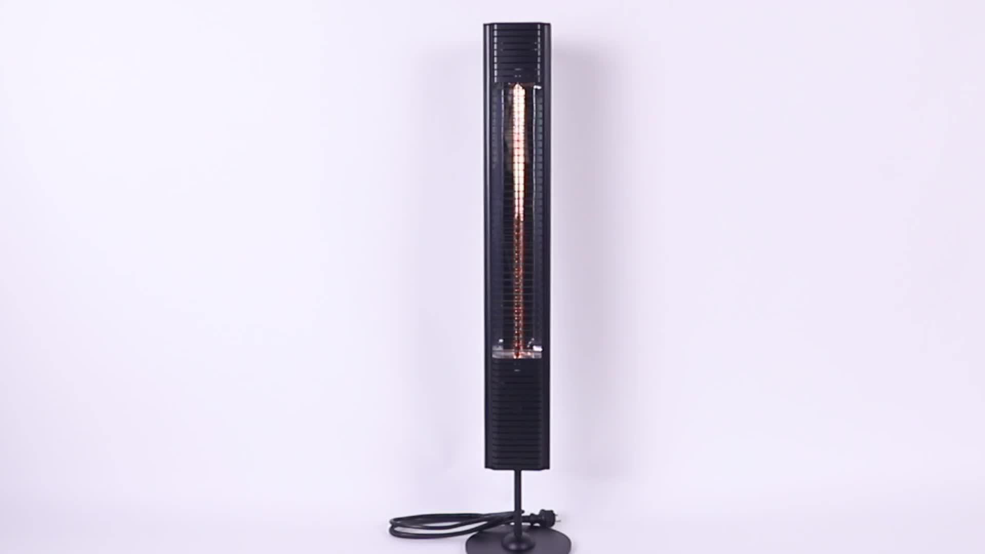 Floorstanding 적외선 할로겐 전기 히터 IP65 원격 제어