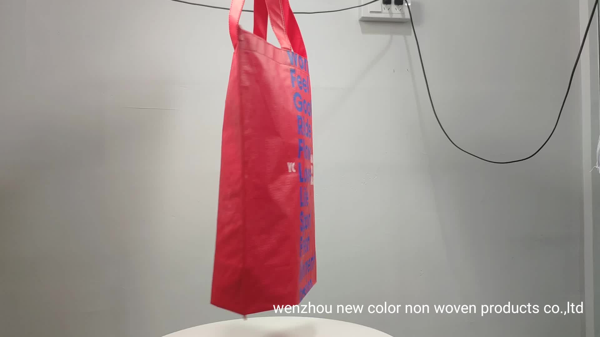 Eco Green Recycle Reusable Non Woven Shopping Carry Bag For Packing