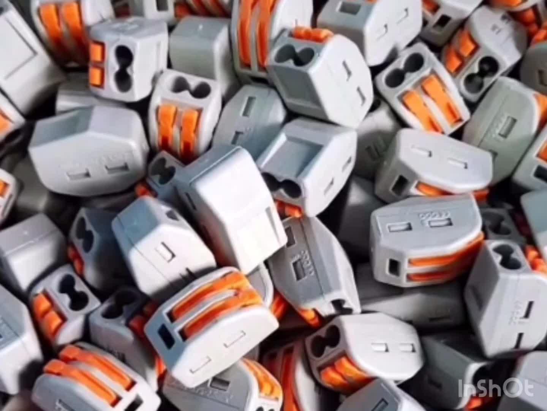 Mendorong Konektor Kawat Kabel listrik Blok Terminal 4 Pin Konektor PCT