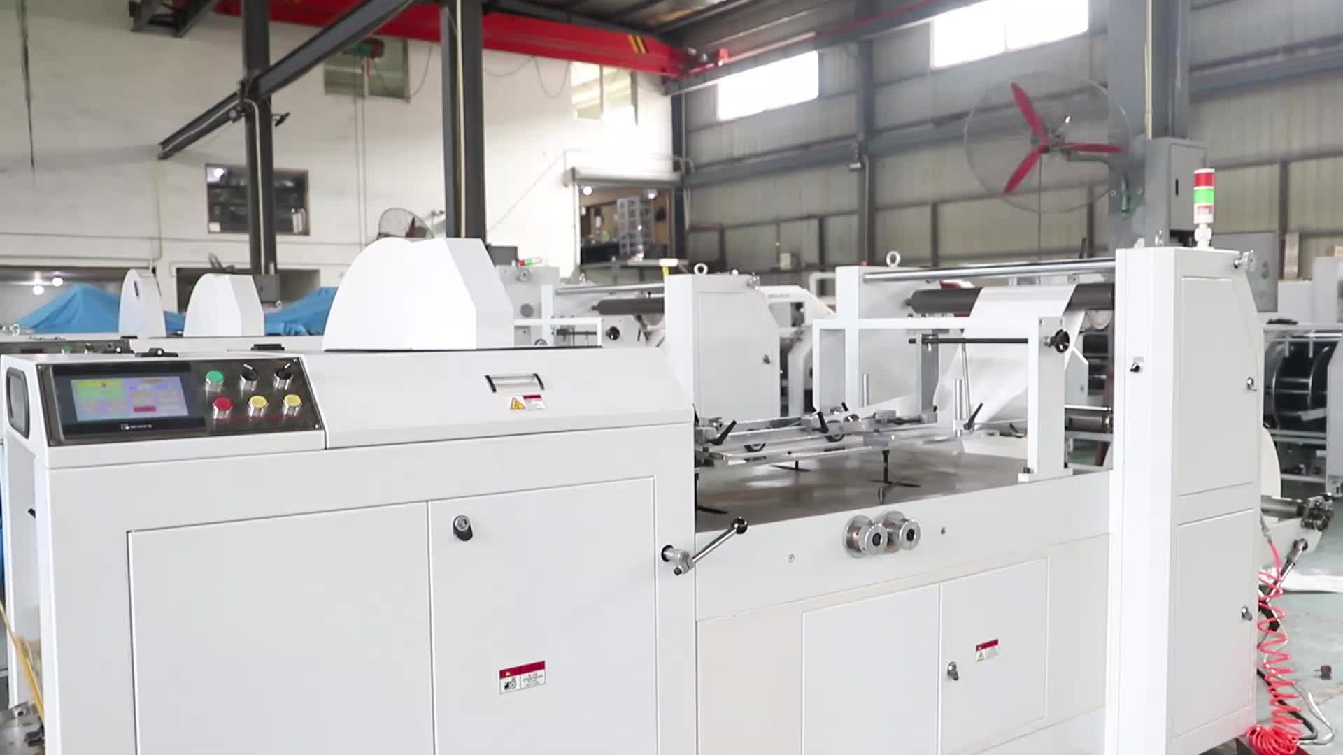 LMD-400B + YT-4800 de alta velocidad KFC alimentos bolsa de papel que hace la máquina precio con impresión flexográfica con ventana