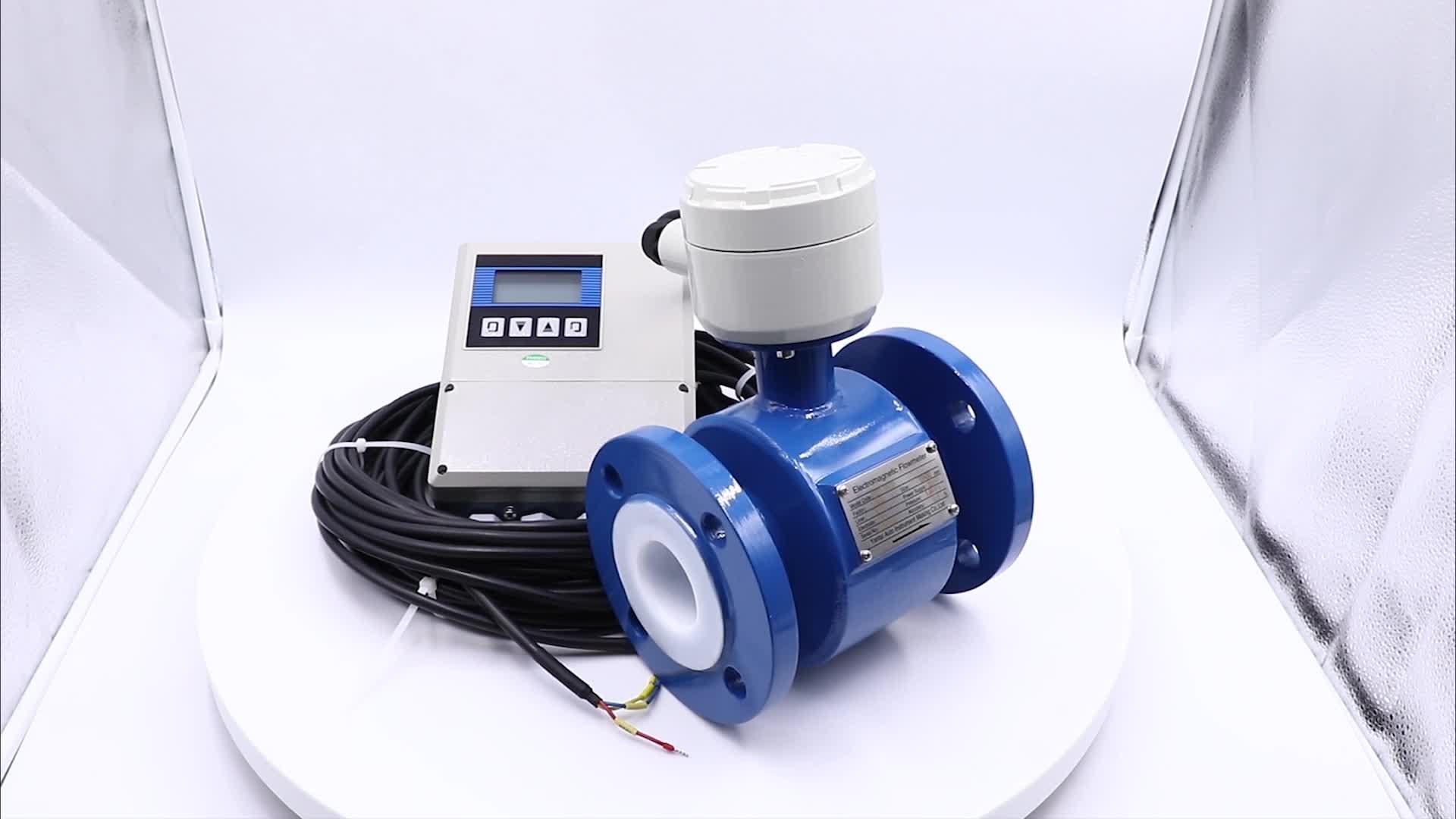 Remote Display dn150 Electromagnetic Water Flow Meter Irrigation