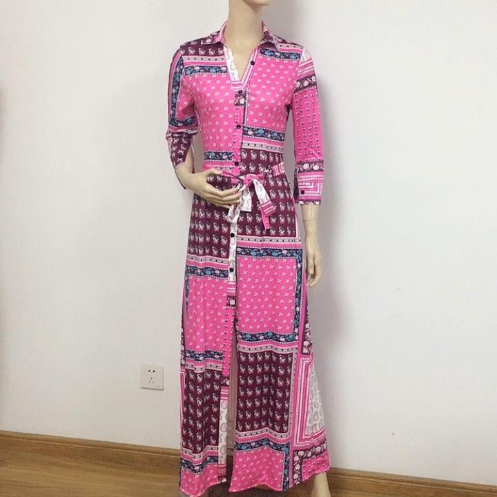 Sexy Blouses Robe Femmes Paisley Imprimé Vintage Printemps Chemise Décontracté Streetwear À Manches Longues Élégant Club de Fête Robe
