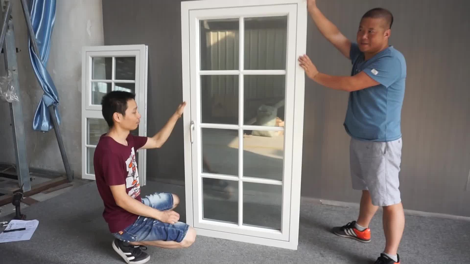 AS2208 Glass White Powder Coating Casement Aluminum Windows