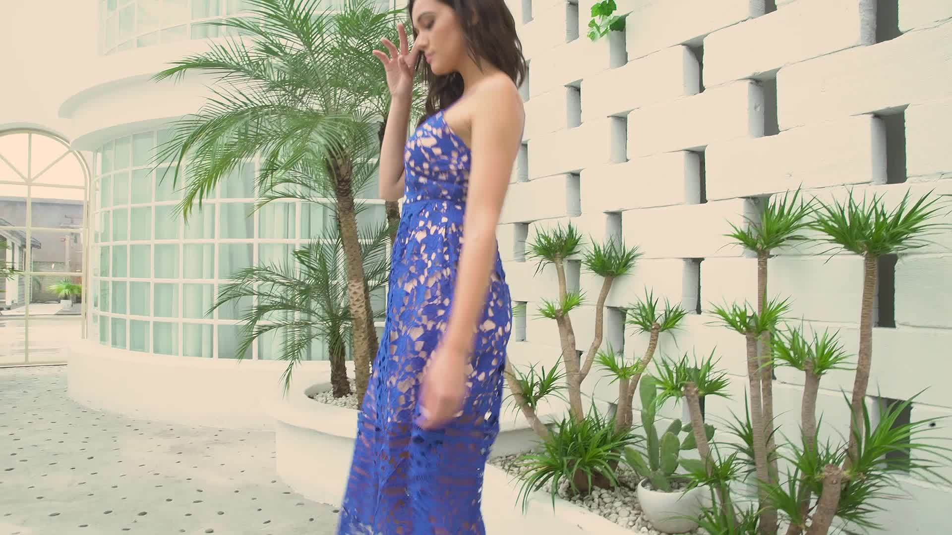 Hot Selling Elegant Lace Hollow Out Nude Illusion Girls Party Dresses