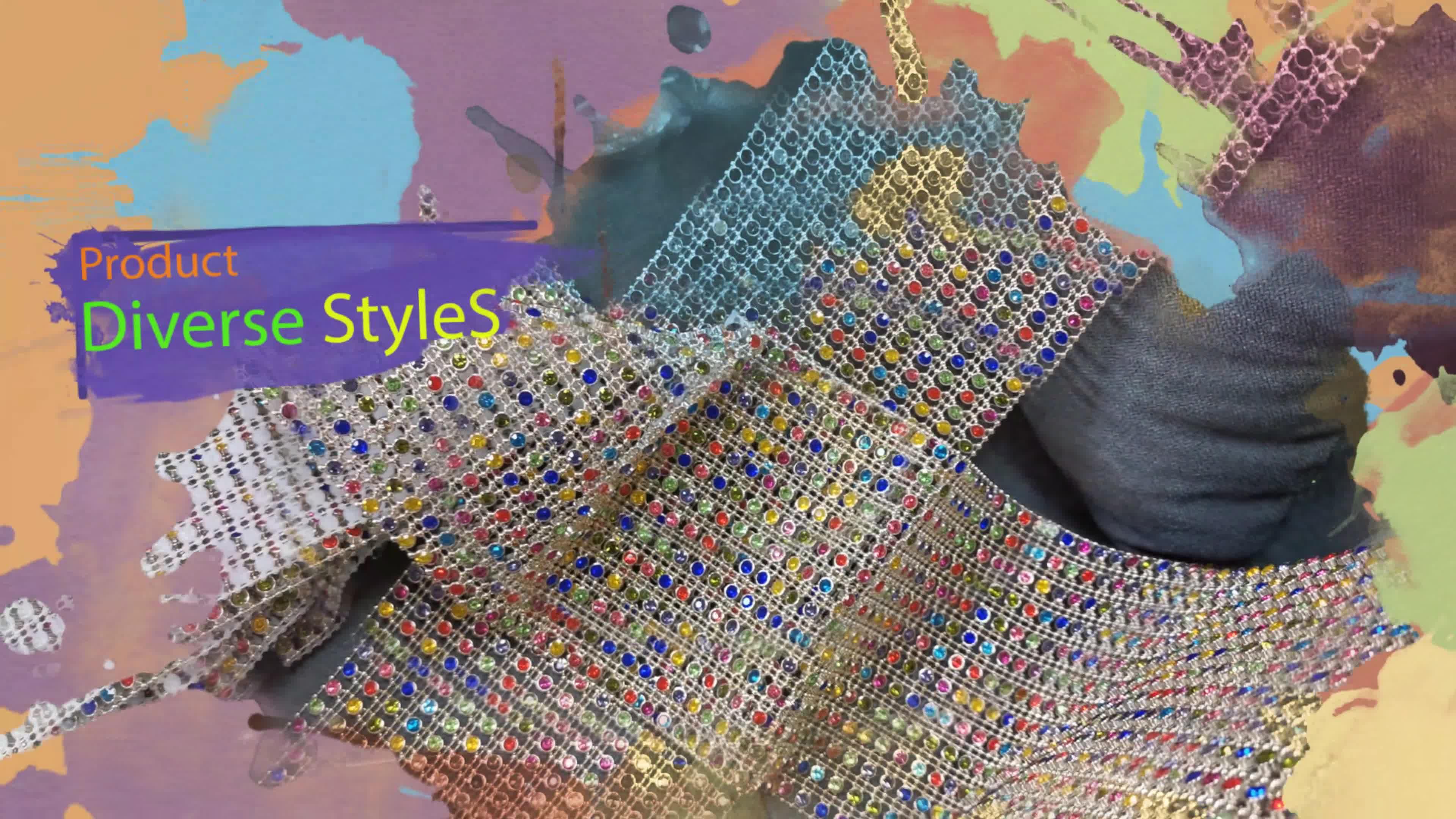 Grosir 24 Baris 4 MM 10 Meter Emas Plastik Rhinestone Lembar Pemangkasan Piala Rantai Diamond Mesh Wrap Roll untuk Menghias aksesori
