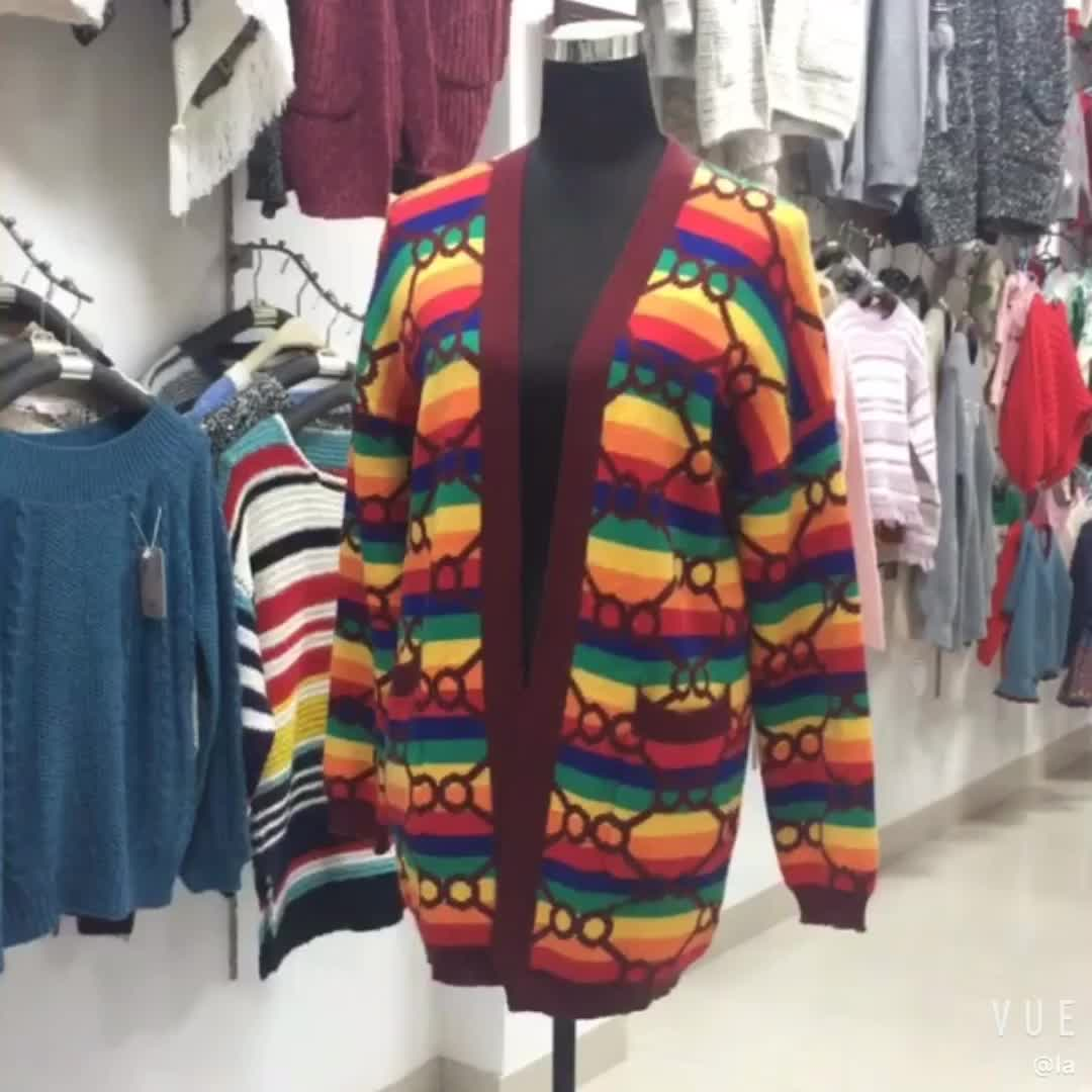 新製品 2019 カスタム女性ニットクリスマスウールカシミヤ特大の女性のカーディガンのセーター