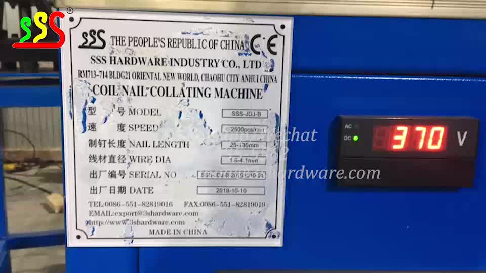 Touch screen China Suppliers Automatic Wire Coil Nail Making Machine/Coil Nail Collator Machine