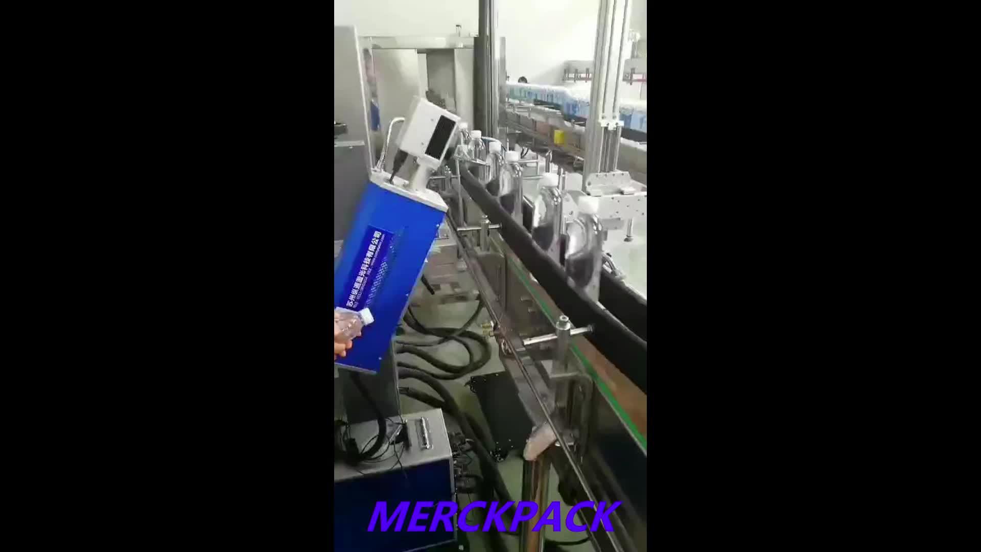 Hohe Effizienz Kunststoff Flaschen C02 RF Laser drucker Druck Kennzeichnung Maschine