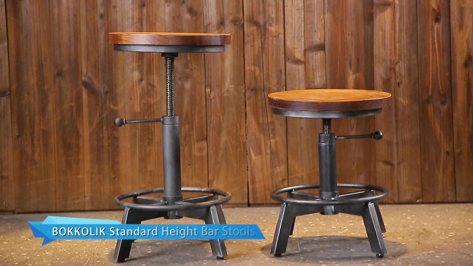 Wholesale metal furniture leather  seat bar stool chair