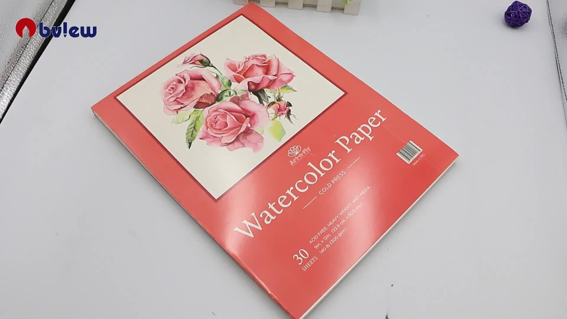 Chuyên nghiệp A4 kích thước báo chí lạnh màu nước giấy pad đối với hỗn hợp phương tiện truyền thông sơn