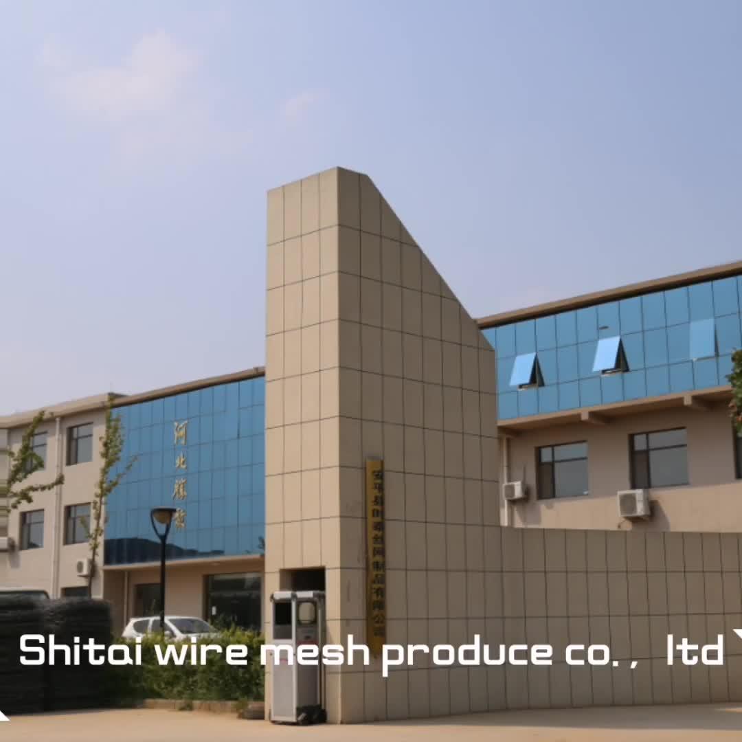 طبقة جلفنة من الكلوريد متعدد الفينيل التراب شبكة سلكية من الحديد