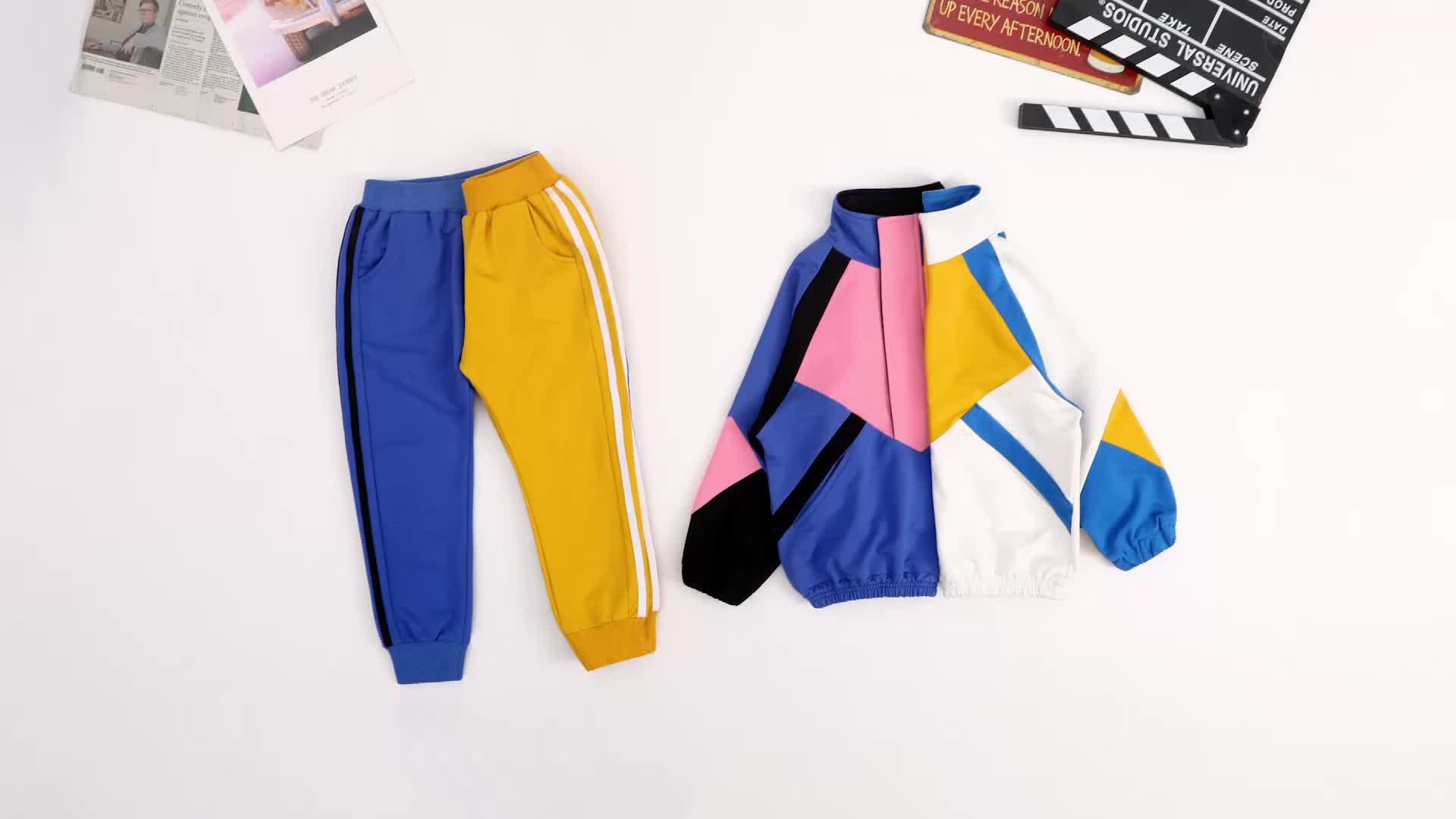 DRDDJN1901B1153 Hip hop di stile del ragazzo vestiti set bambini di modo dei vestiti dei ragazzi di alta qualità di abbigliamento per bambini