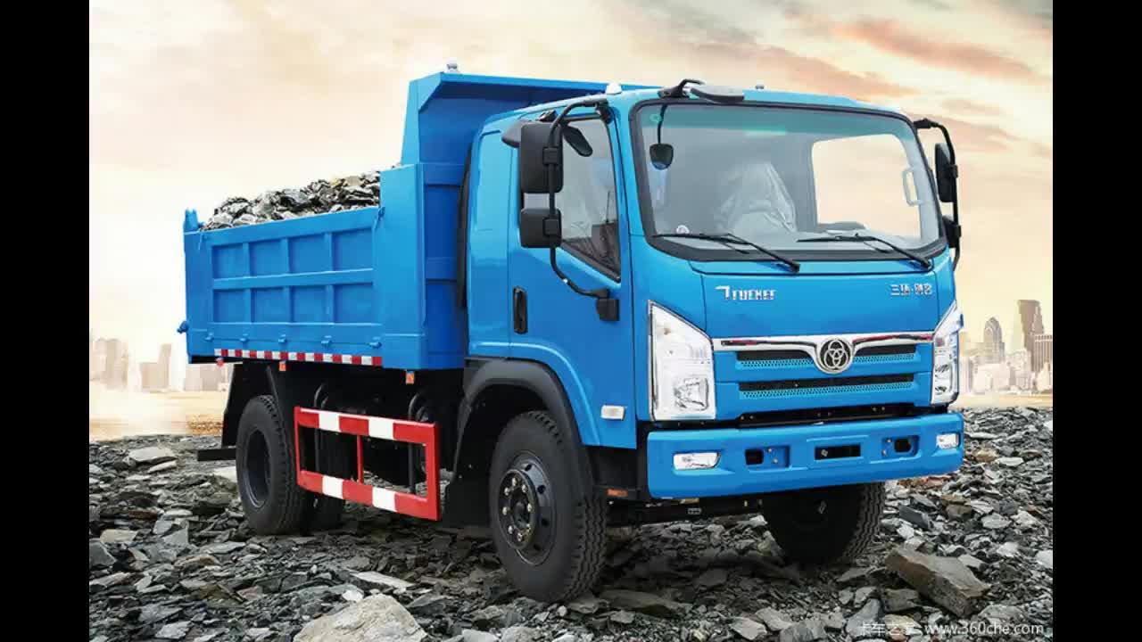 Construction loading capacity 4 ton to 10 ton 6 wheel standard dump truck dimensions