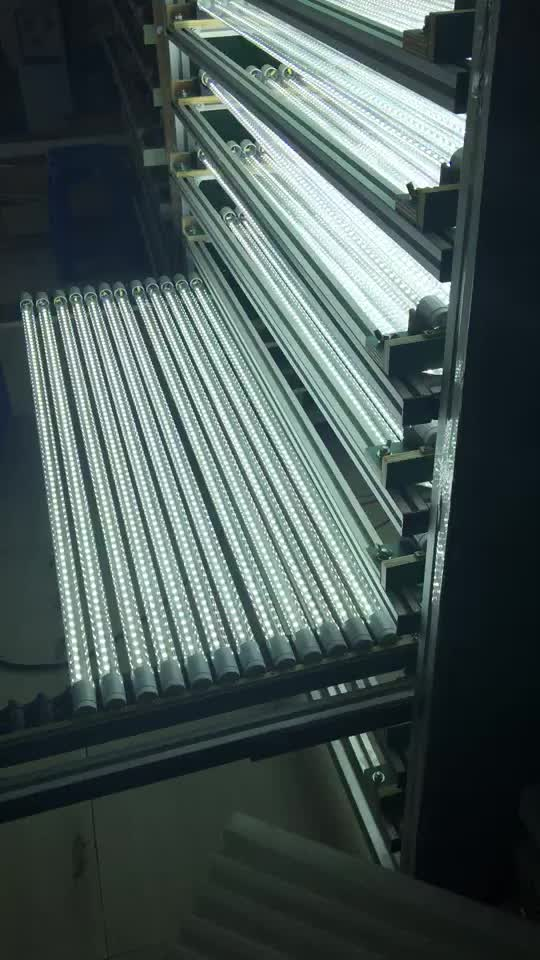 China New Patent design raw materials led tube light 2400mm length size 36w tube lights Aluminum material t8 tube lighting