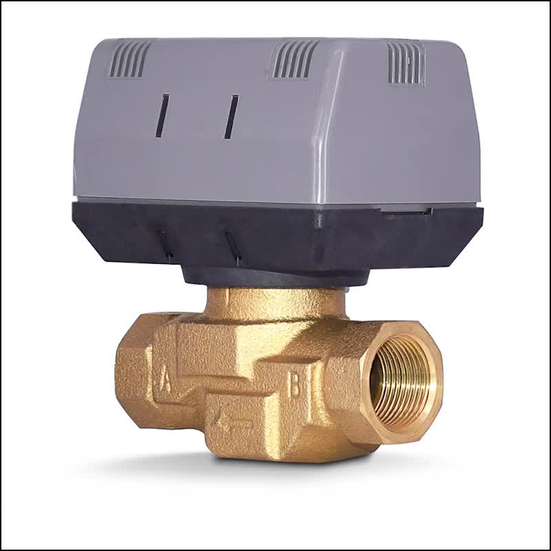 Hot sold Fan coil motorized valve control valves 3 way valve