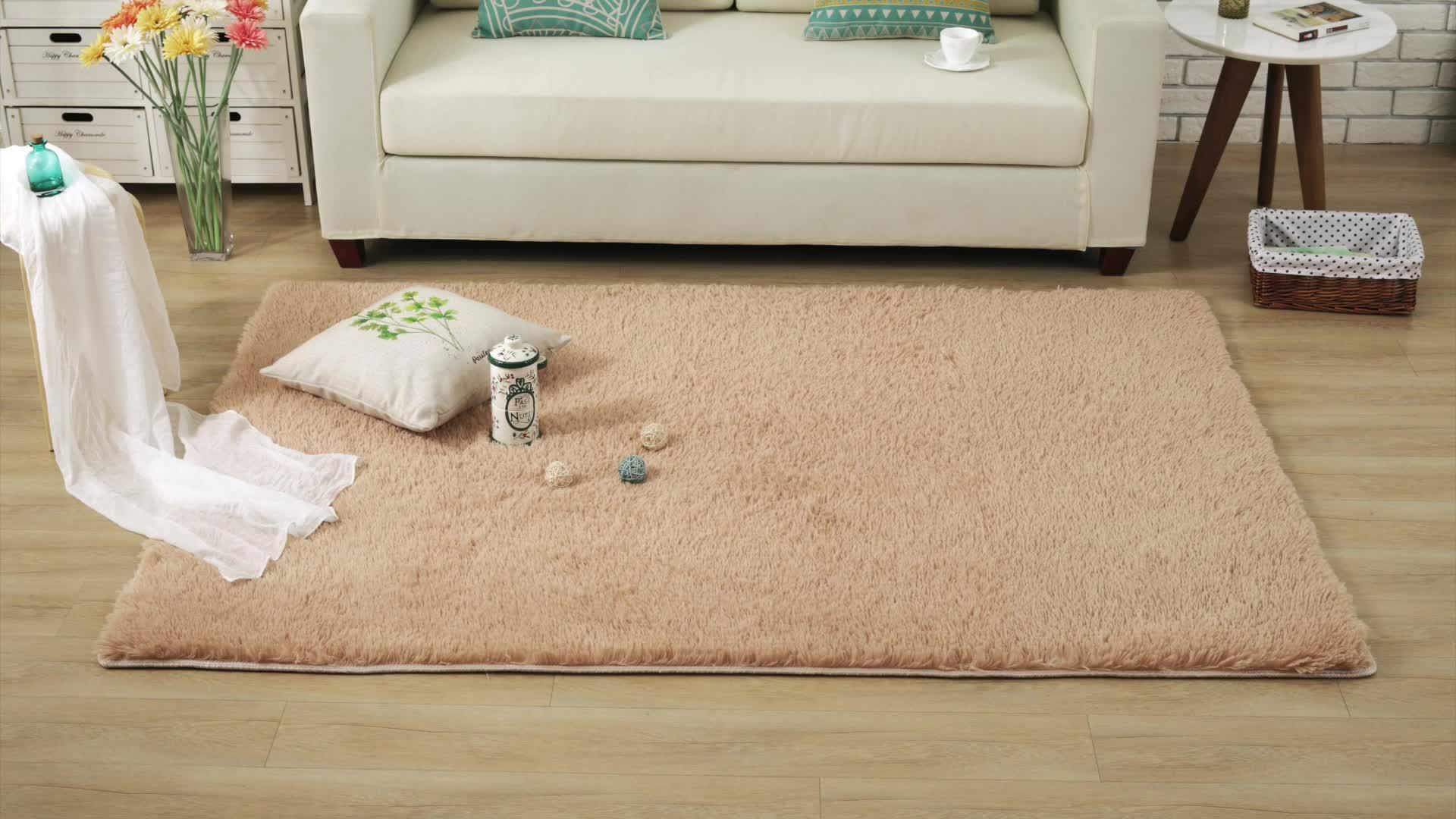 בריא פוליאסטר מפעל ישיר שאגי בולט סלון שטיח בז 'אנטי להחליק רצפת שטיחים