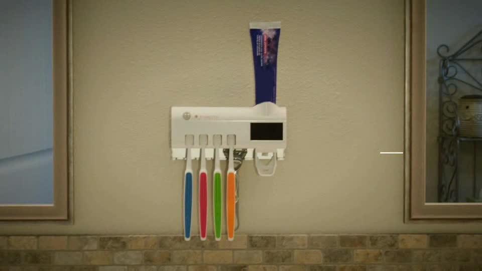 Nieuwe Producten Ideeën 2019 Rvs Plastic Elektrische Oplaadbare UV Sterilisator Kids Unieke Tandenborstelhouder