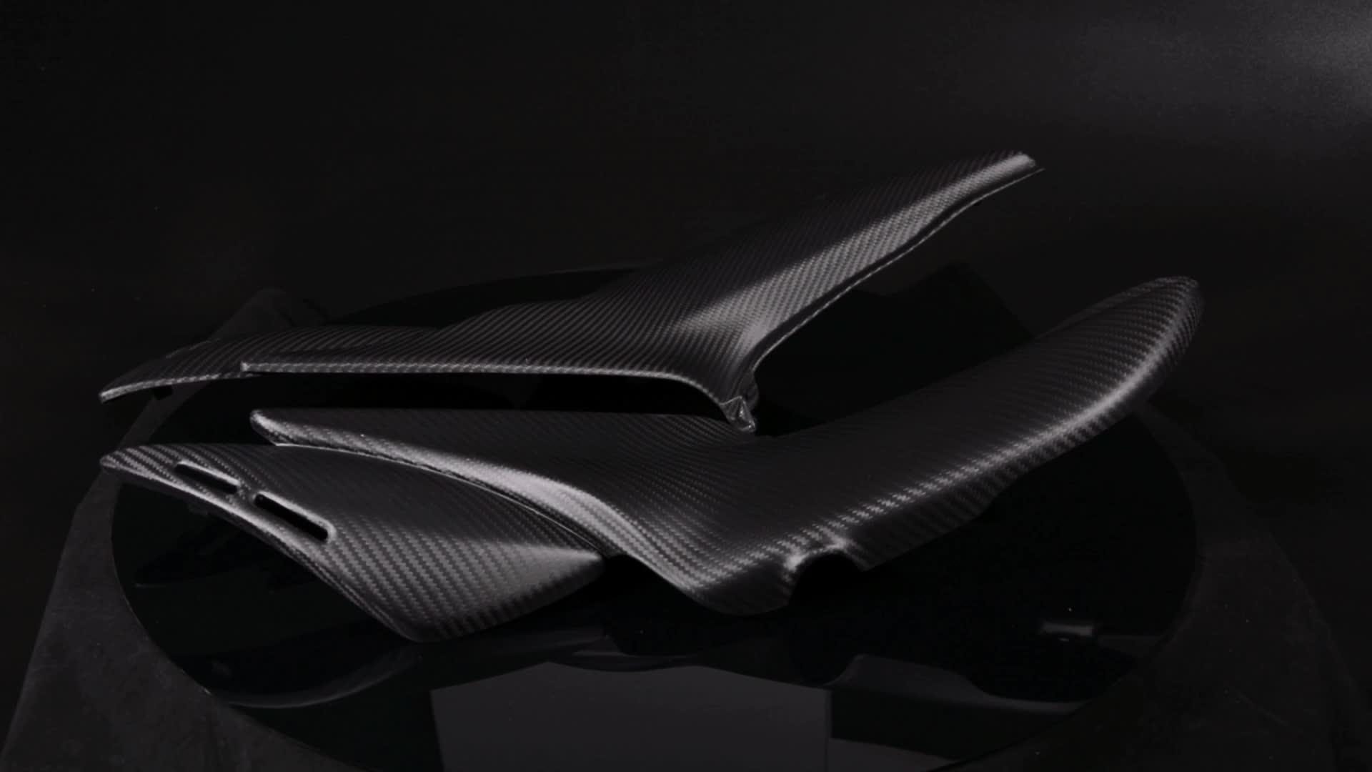 Motosiklet 100% 3K Dimi Örgü Mat Siyah Karbon fiber Parçalar Yan paneller (Yedek) kawasaki Z900 RS 2018
