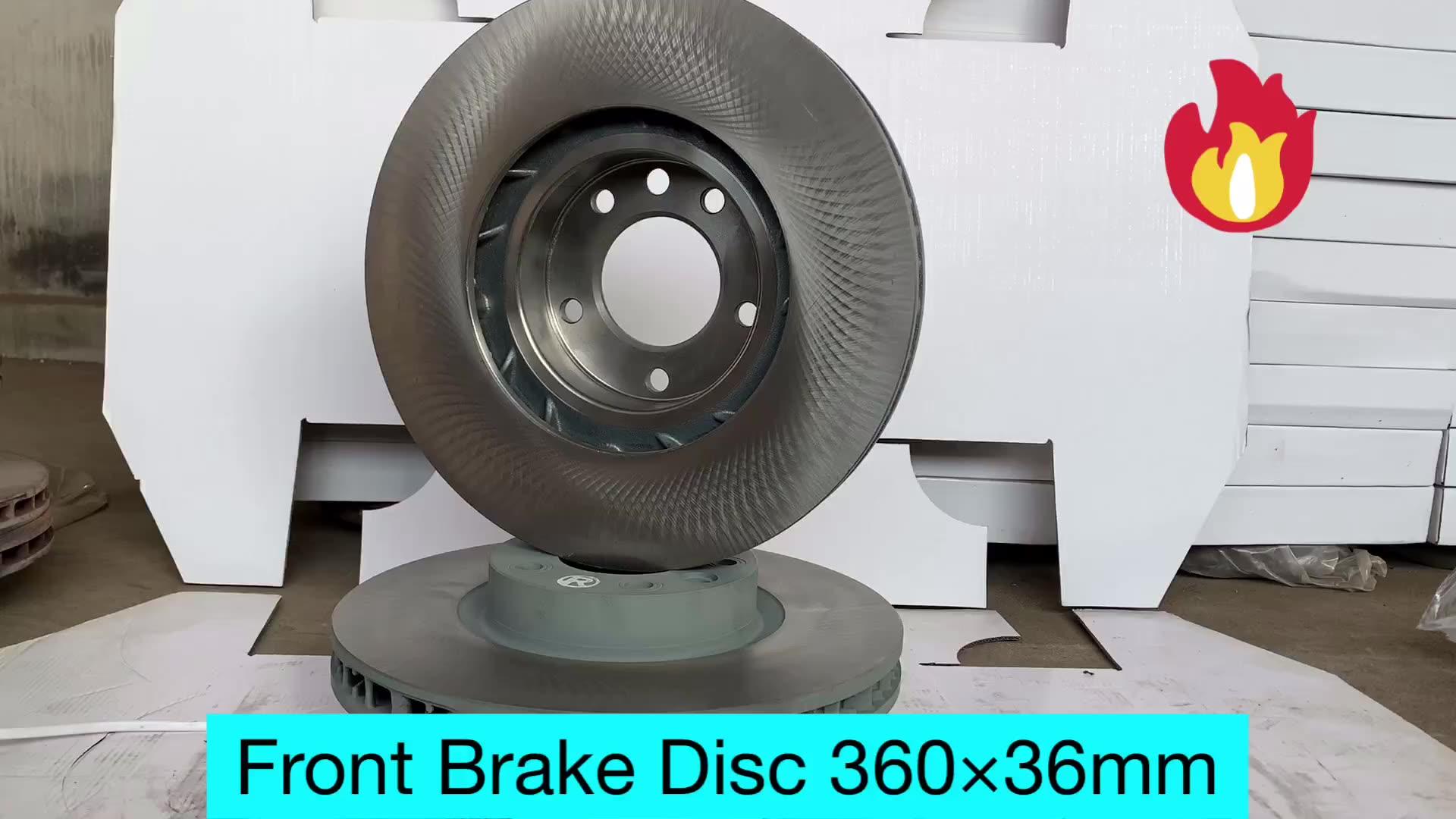 95835140401New Echt Voorrem Rotor Disc Links Oe 95835140301 Voor Porsche Cayenne 2011 - 2016 Kit