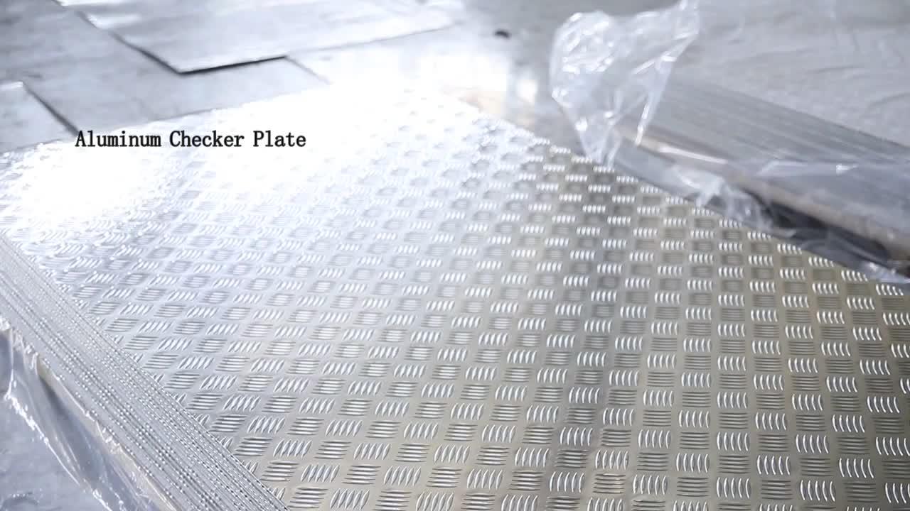 Alloy polished aluminum tread plate